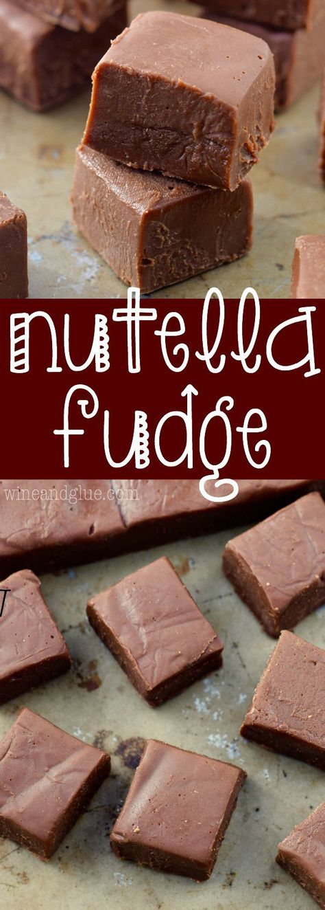 This Nutella Fudge is a SUPER fast recipe that your friends and family will ask for again and again!