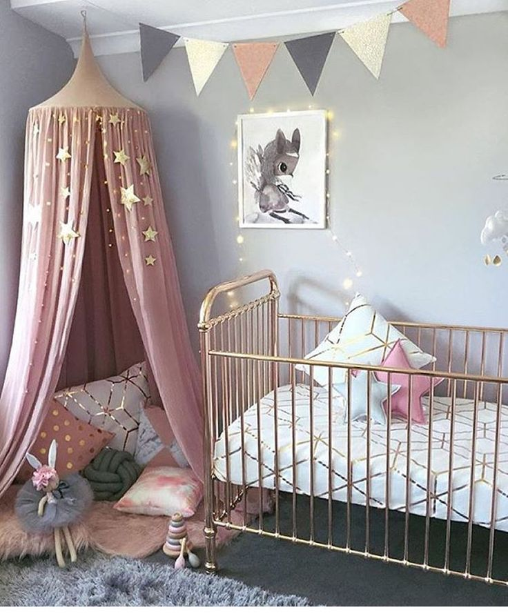 """Stylish Bump on Instagram: """"NURSERY / / Baby girl's bedroom all set up for her arrival with the stunning Rose Gold"""