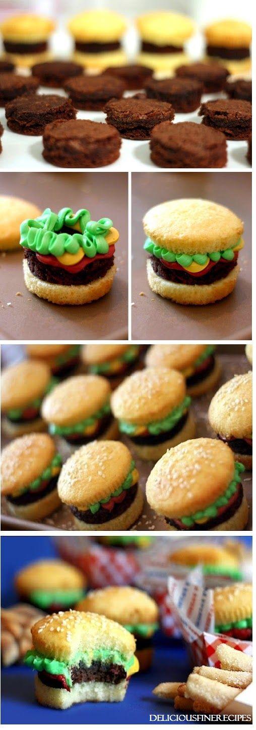 Delicious Fine Recipes: Burger Cupcakes
