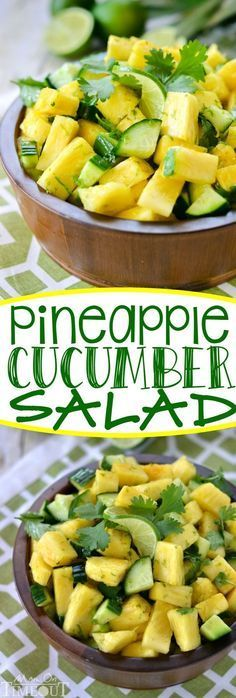 This perfectly refreshing Pineapple Cucumber Salad is wonderfully easy to make and simply delicious! A gorgeous, healthy