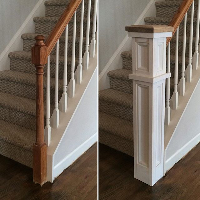 """""""it was installed around the existing post. I built the front and sides in one piece, and then installed the last side by trimming"""