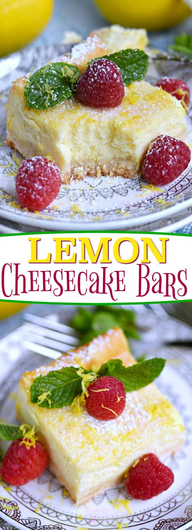 My Aunt Pams Lemon Cheesecake Bars are made with lots of fresh lemon juice and zest so theyre bursting with lemon flavor! Extra