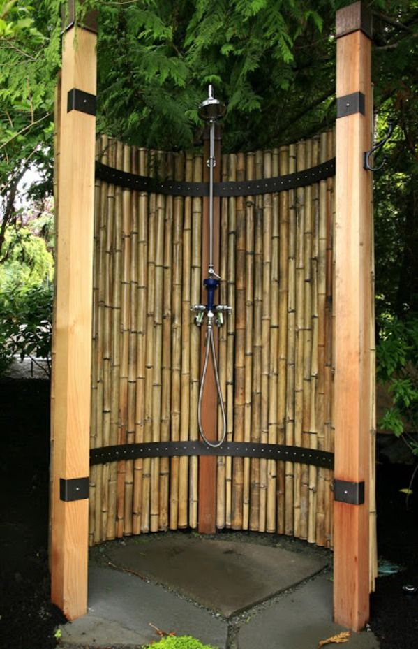 Garden Shower- pinning this on Products I Love with irony. Invaded by bamboo – need to find crafts to use those long sturdy
