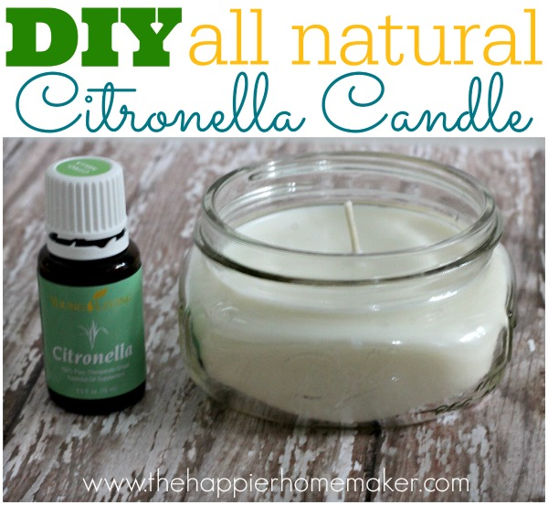 DIY all natural citronella candle – makes a great gift!  Find Young Living Essential Oils here:  www.youngliving.o… (member