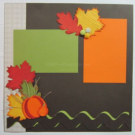 Autumn Page 1, Scrapbooking for fall, Pumpkins Stampin up