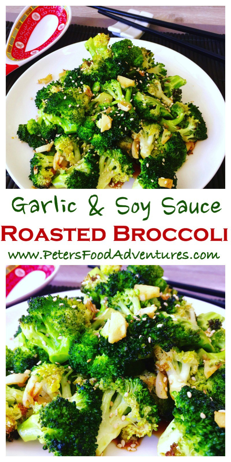 Super easy and delicious. Chinese style, oven roasted, flavourful and packed full of vitamins. The best broccoli side dish you