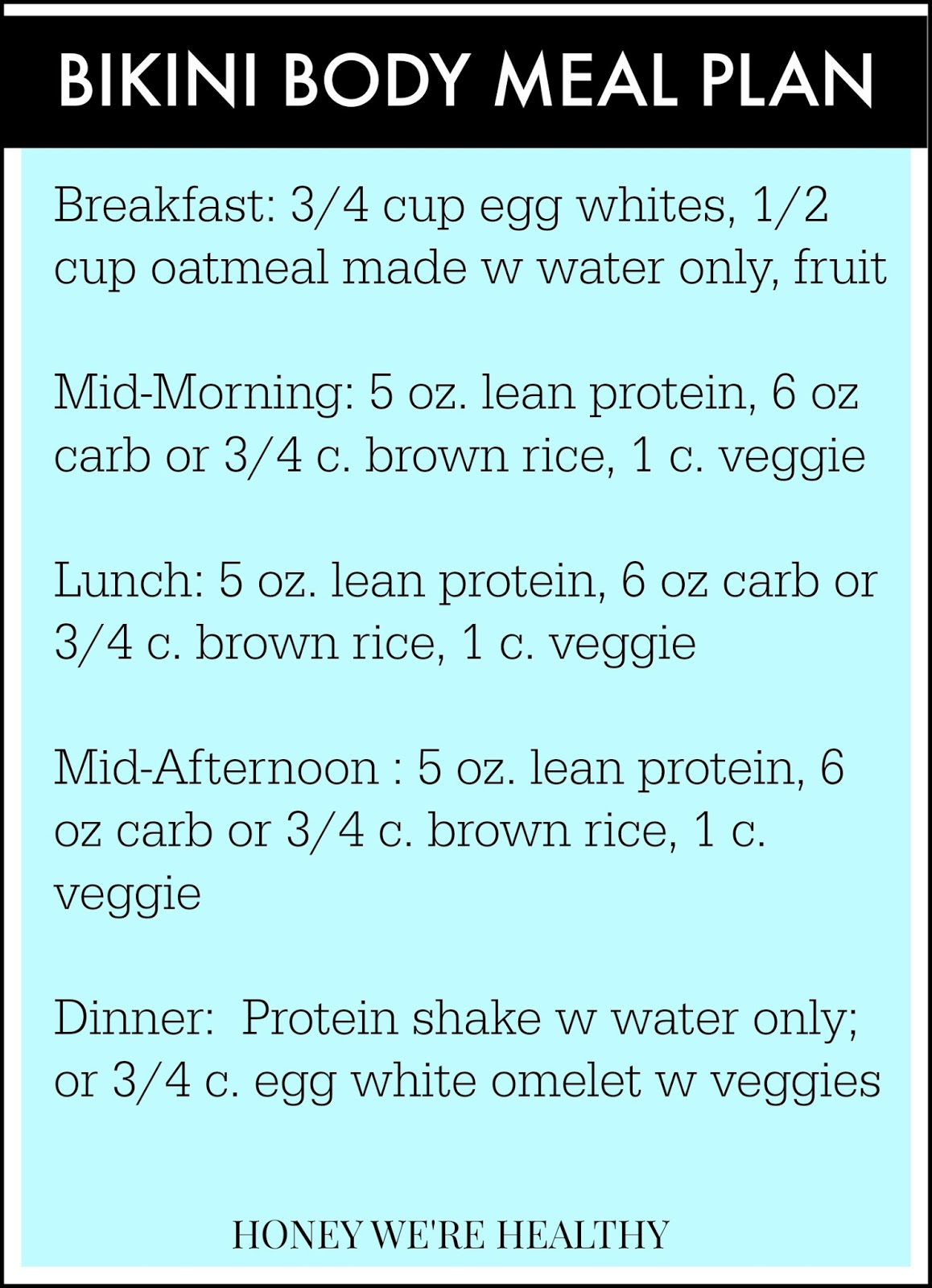 12 Weeks Out // My Bikini Contest Meal Plan
