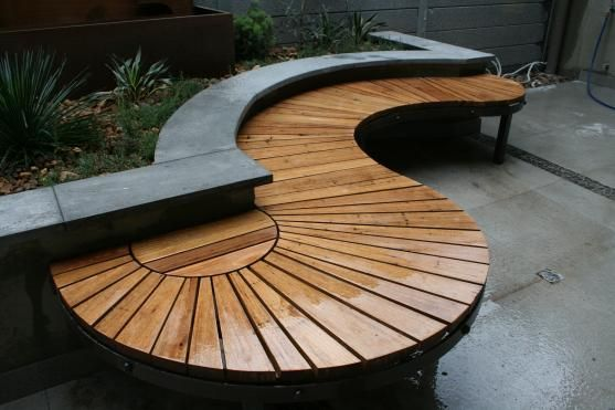 Something different — bench around tree wouldnt ave to be circular or square… Garden bench… add some pillows.