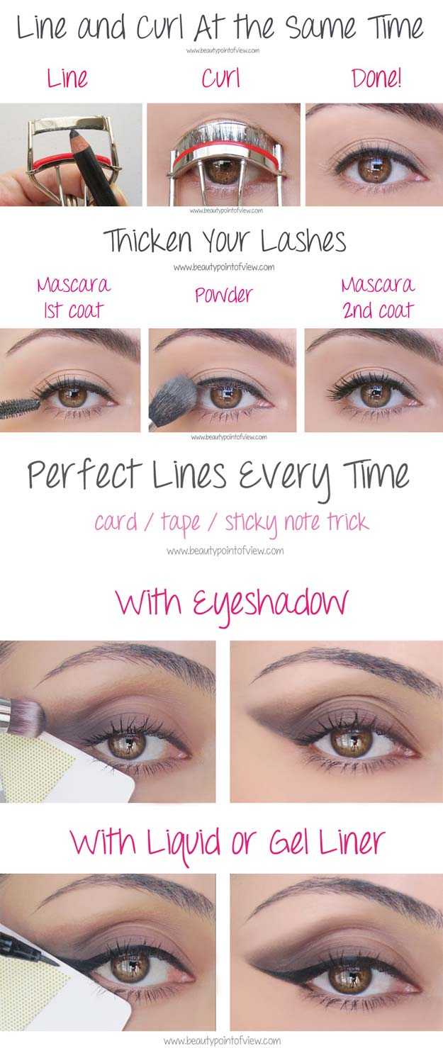 Beauty Hacks for Teens – Eye Makeup Tricks – Must Know – DIY Makeup Tips and Hacks for Skin, Hairstyles, Acne, Bras and