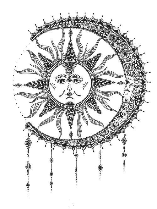 sun and moon tattoo tumblr – Szukaj w Google   We Heart It   moon …