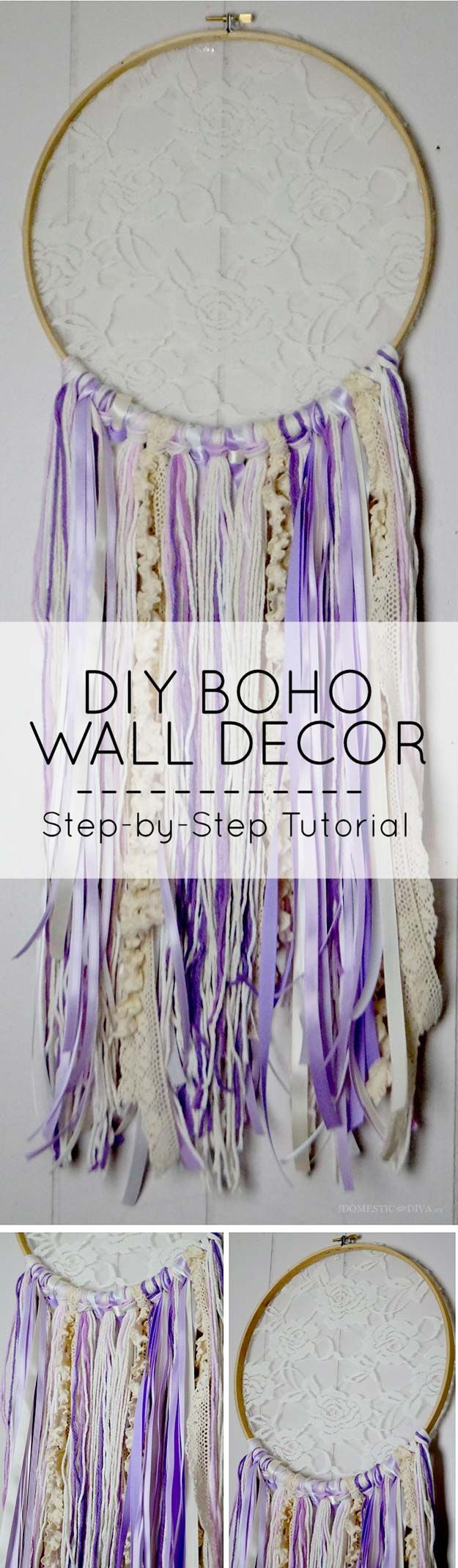 DIY Purple Room Decor – DIY Boho Wall Decor – Best Bedroom Ideas and Projects in Purple – Cool Accessories, Crafts, Wall Art,
