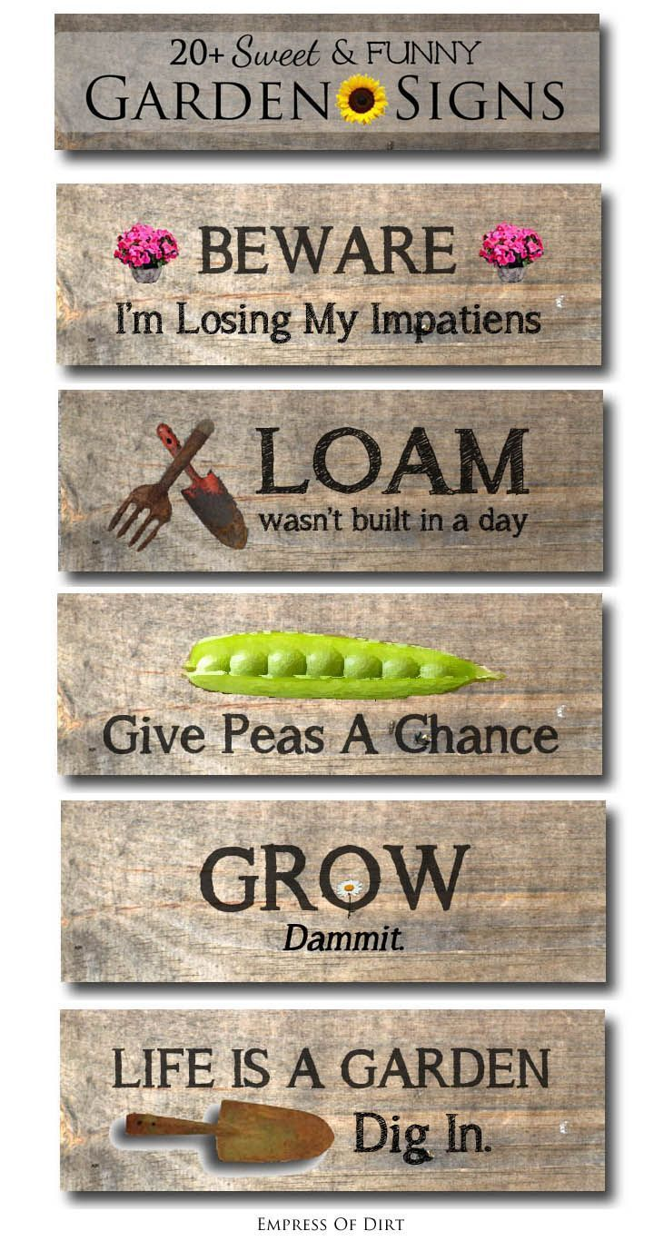 It's funny how one simple garden sign can tell you so much about the gardener. Whether funny, sarcastic, functional, or simply