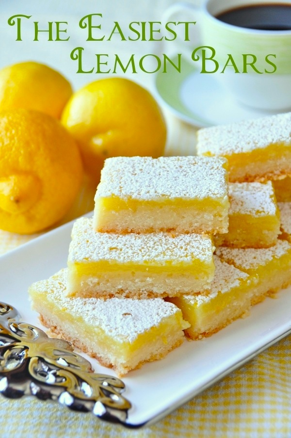 Super Easy Lemon Bars – using only 5 simple ingredients and a very quick preparation time, this is the easiest and best lemon bar