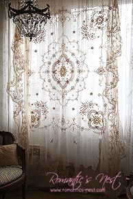 cool hang a Goodwill lace bedspread for a romantic boho curtain – Home Decorating Magazines by www.best99-home-d…