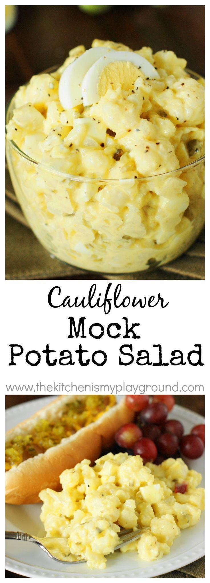 Cauliflower Mock Potato Salad ~ a full-of-flavor lower-carb version of our beloved potato salad!   www.thekitchenism…