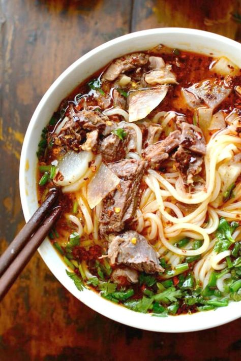 Make Lanzhou Beef Noodle Soup — 18 Noodle Soup Recipes to Make You Temporarily Forget About Ramen : brit+co.