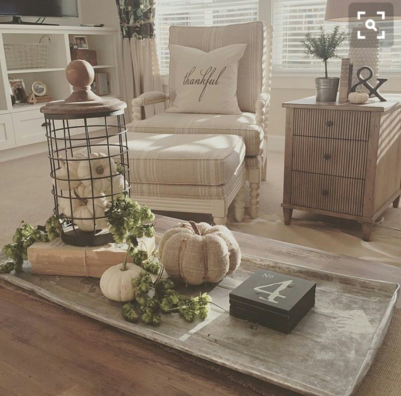 I love the light and airy feel of this decor. One day….once the kids are gone….