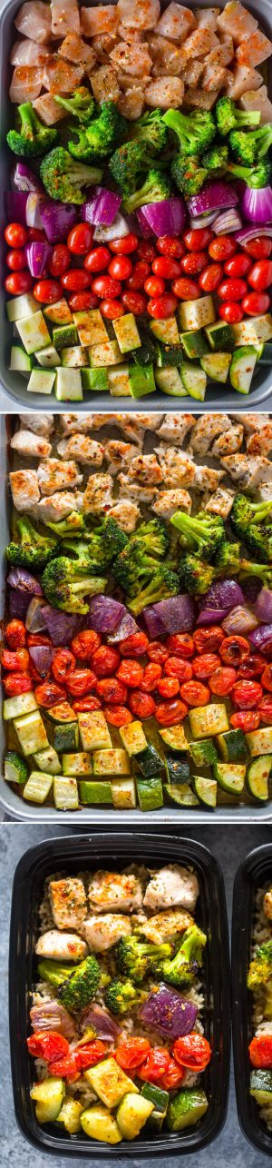 Meal Prep – Healthy Chicken and Veggies #vegetable_recipes_pasta