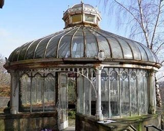 Abandoned Victorian Glasshouse… Cleaned up this would be an awesome place for tea and reading on a rainy day.