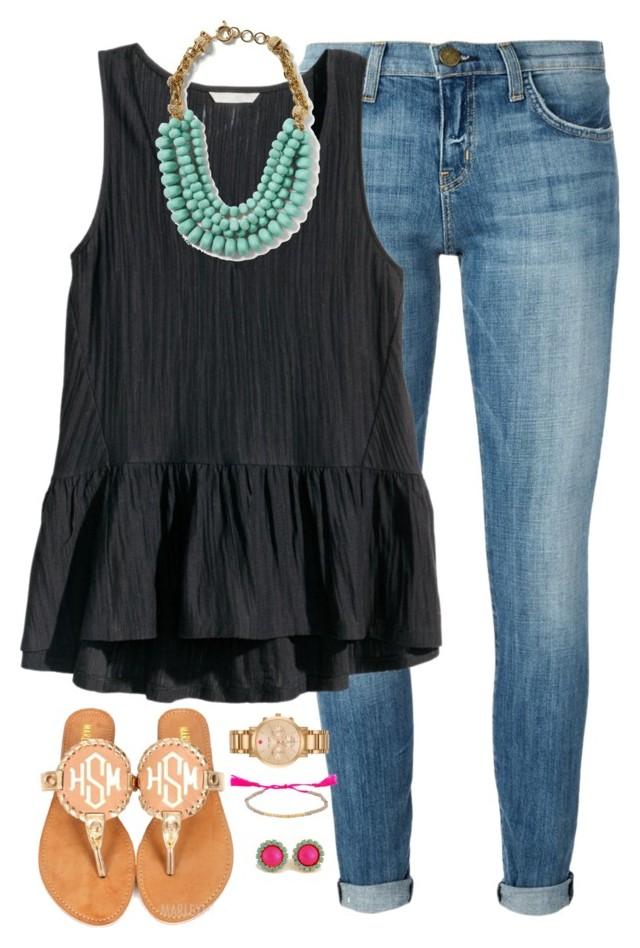 """""""❁ Lets just be who we really are ❁"""" by kaley-ii ❤ liked on Polyvore featuring Current/Elliott, H&M, Banana Republic and"""