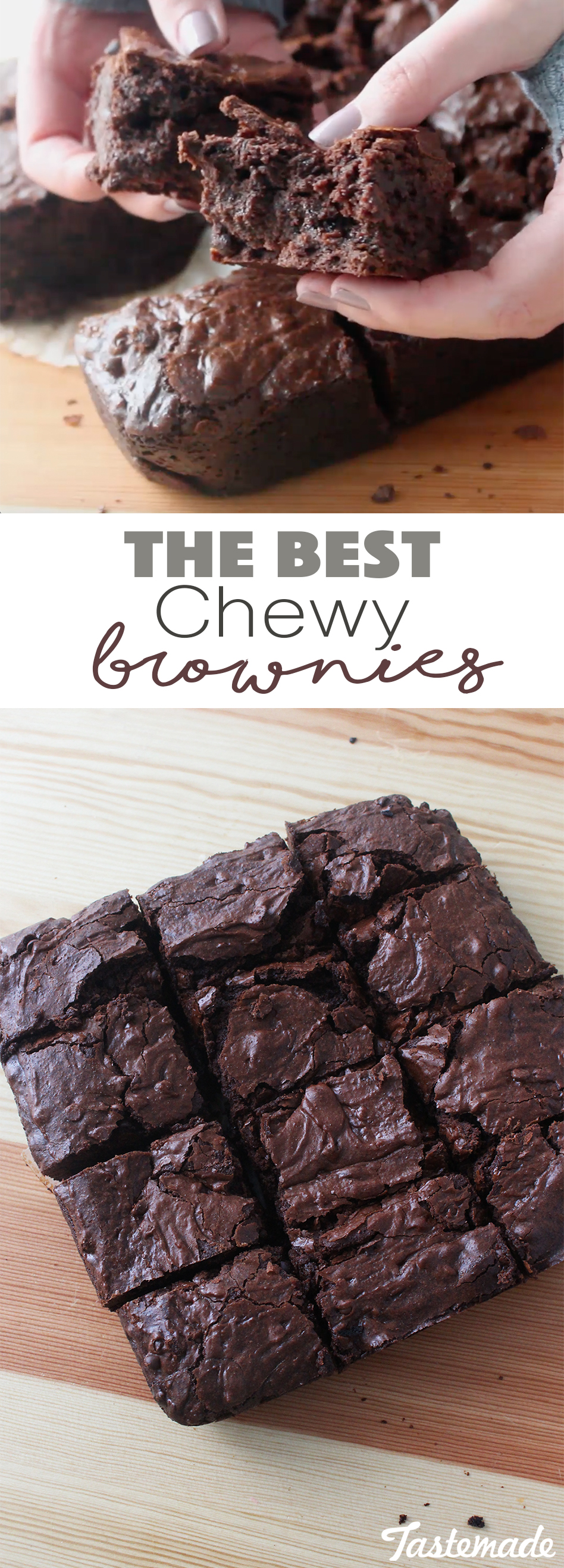 These brownies are so chewy, moist and perfect for any chocolate craving!