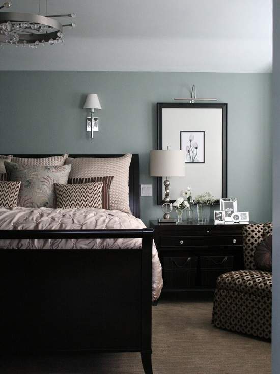 My favorite color ever.  Did my Master and Bathroom in this color.  Beach Glass, 1564 by Benjamin Moore — looks great with Revere