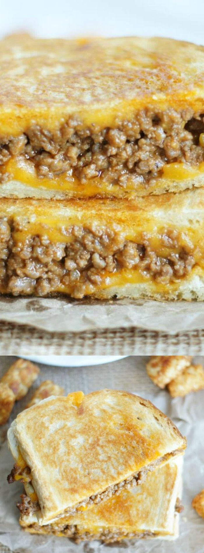 These Sloppy Joe Grilled Cheese Sandwiches from 5 Boys Baker are bound to become your new quick and easy weeknight go-to meal when