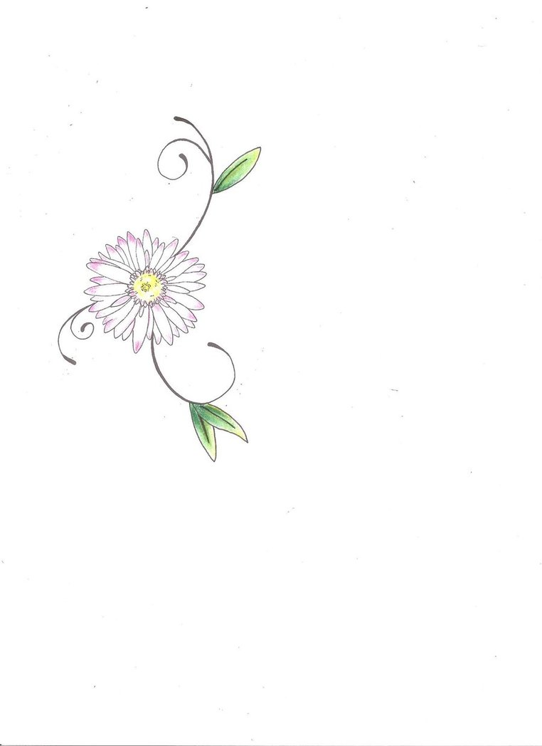 Would make a cute tattoo..I could get it in remembrance of my mom #daisy_hip_tattoo