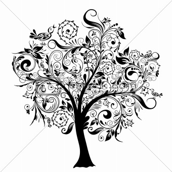 love this! I would make the branches out of quotes or words I like #tree_tattoo_ideas