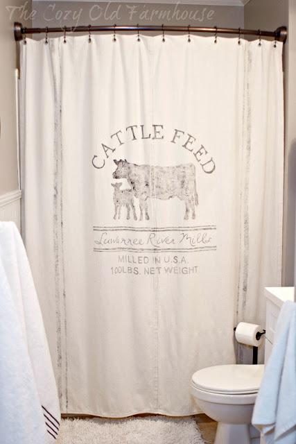 """The Cozy Old """"Farmhouse"""": Kids/Guest Bathroom Farmhouse Makeover #diy_canvas_home"""