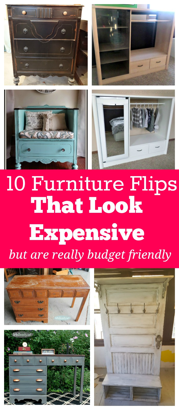 I LOVE the look of expensive furniture, but I hate spending lots of money on it! These DIY furniture flips on a budget look