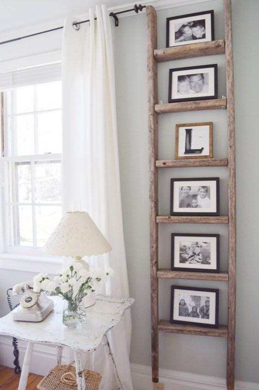 Gratefully Vintage- Antique Ladder Decor