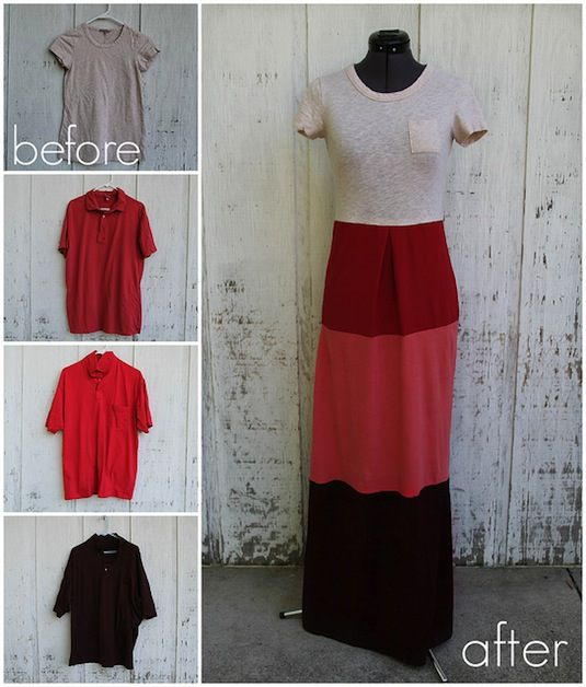 33 Clever Ways To Refashion Your Clothes: So cute!! And all pretty simple too! I need to do this with some of my skirts and tees!