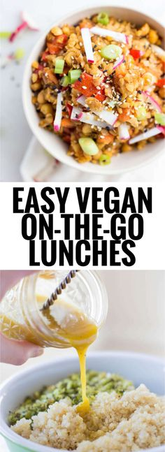 Easy Vegan On-the-Go Lunches: Perfect for work or school, these healthy…