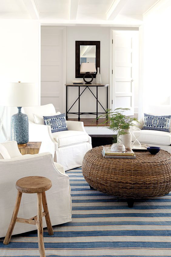 Coastal Style coffee table… another interesting idea instead of the driftwood look
