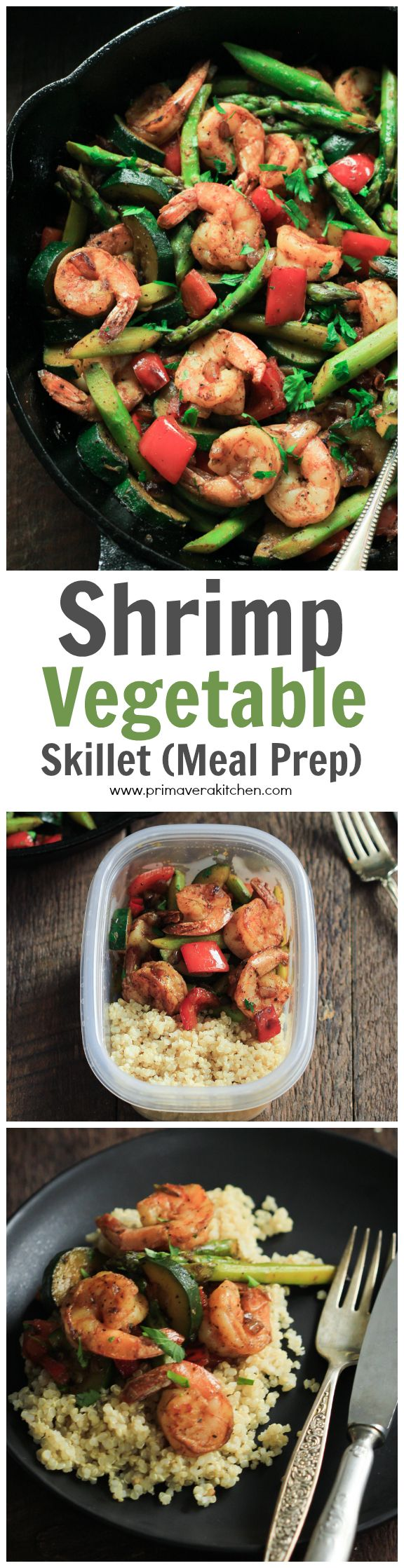 This ultra-easy Shrimp Vegetable Skillet recipe is loaded with veggies, flavorful spices and shrimp. It's a low-carb,