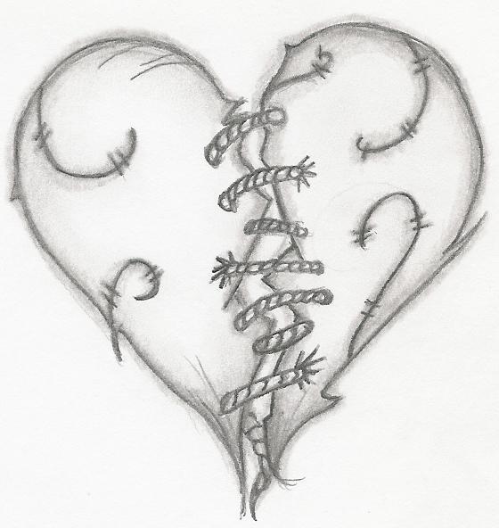 Stitched heart by ~Emokid711 on deviantART