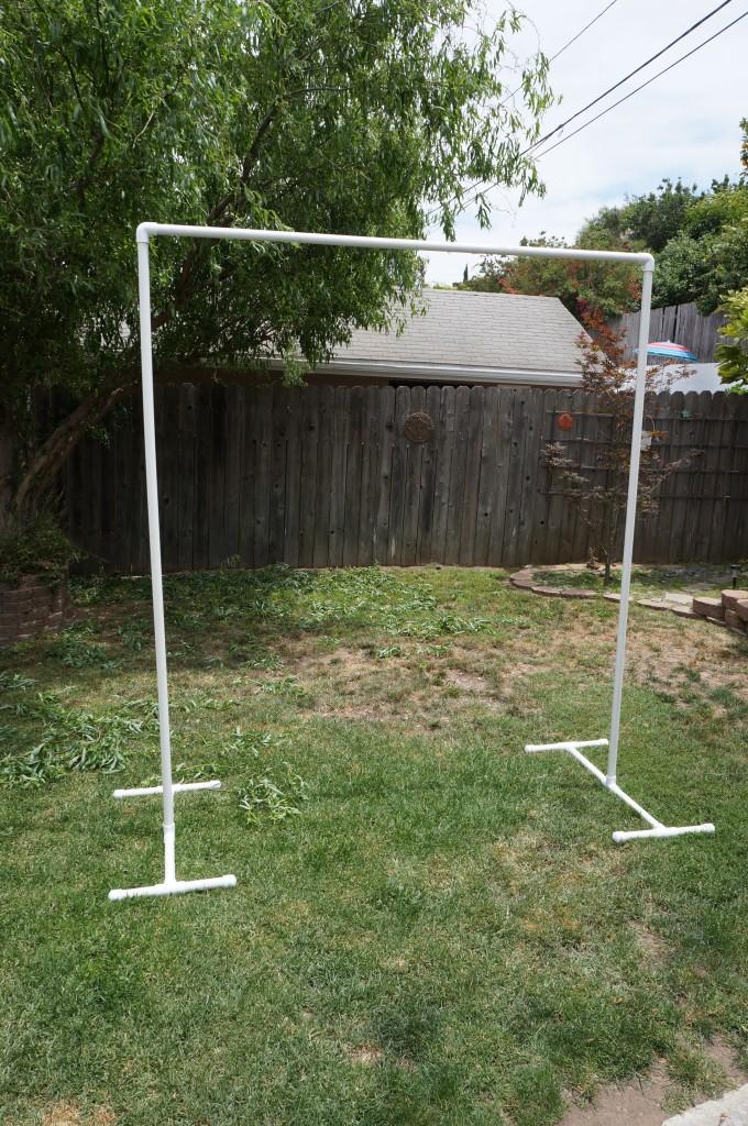 Build your own PVC backdrop.