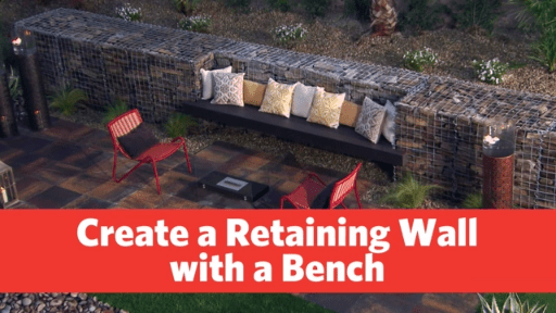 Build a Retaining Wall with Bench