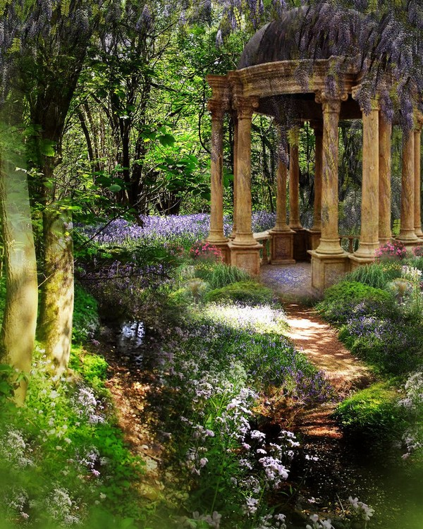 """Wouldn't it be nice to have an old """"temple"""" or folly in your backyard?"""
