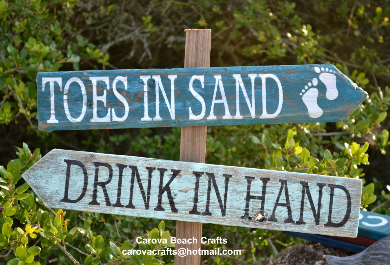 Beach Wedding Sign – Beach Sign – Beach Decor – Beach Theme – Coastal – Directional – Outdoor – Yard – Painted, No Vinyl –