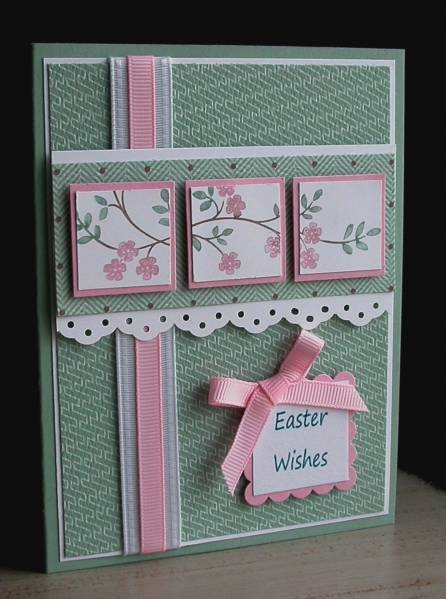 Easter Wishes–Stamps: Thoughts & Prayers Paper: Sage Shadow, Whisper White, Pretty in Pink Accessories: SU Markers, SU DP, SU