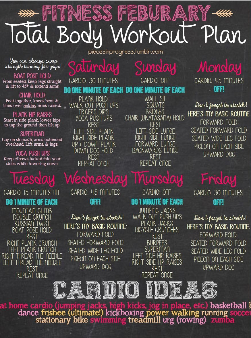 This month's workout plan! I included a printable… | Pieces in Progress: Living fit, healthy, & happy!