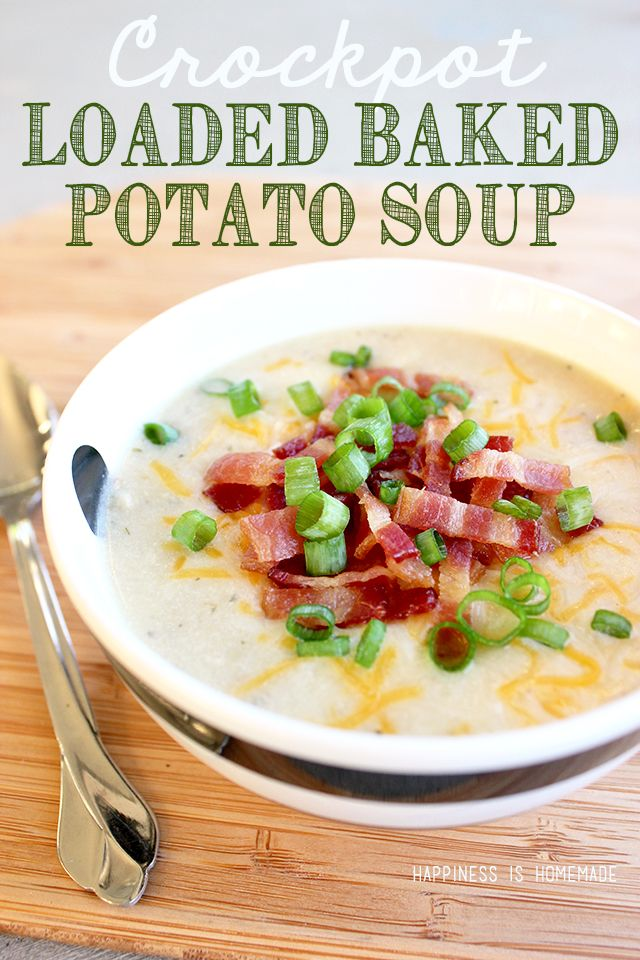 Crockpot Loaded Baked Potato Soup Recipe