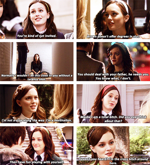 Blair Waldorf, Gossip Girl ❤️ She's absolutely my kind of person.