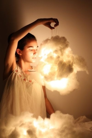 "DIY Cloud Lights, great for a nursery or little girls room. OMG These would be PERFECT little clouds for the girls ""secret garden"""