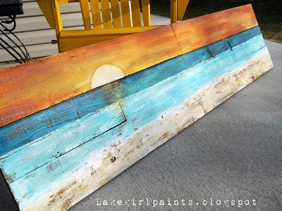 Lake Girl Paints: How to Paint Beach Art – ABSOLUTELY love this.