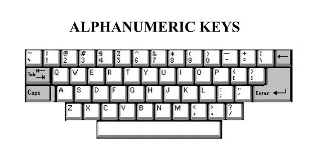 alphanumeric key - कंप्यूटर के इनपुट डिवाइस (Input Devices)