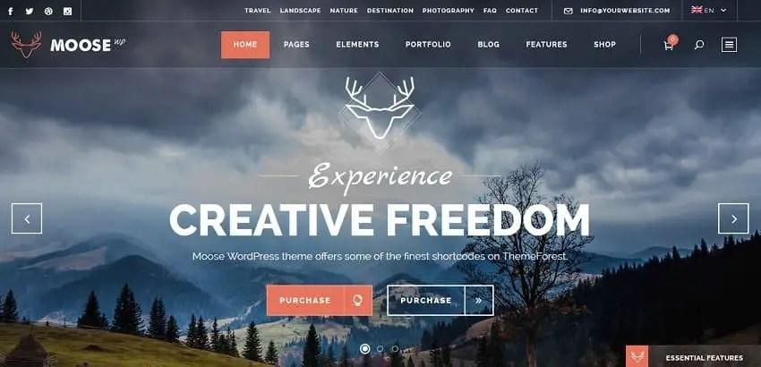 best creative wp theme - moose