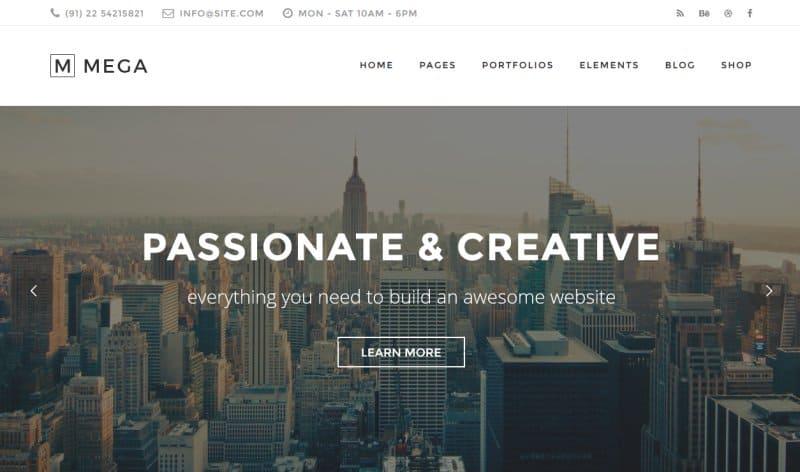 mega creative wp theme 2016